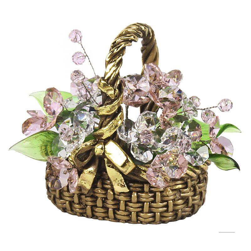Хрустальные цветы в корзинке Минирозы