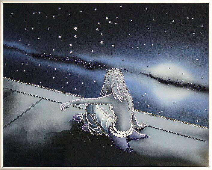 Картина с кристаллами Swarovski  Космическое будущее