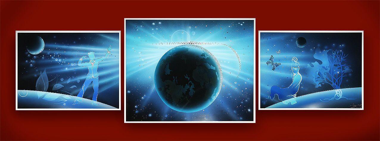 Картина с кристаллами Swarovski  Композиция во Вселенной