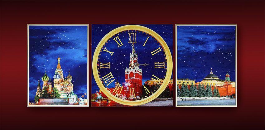 Картина с кристаллами Swarovski Красная площадь (триптих)