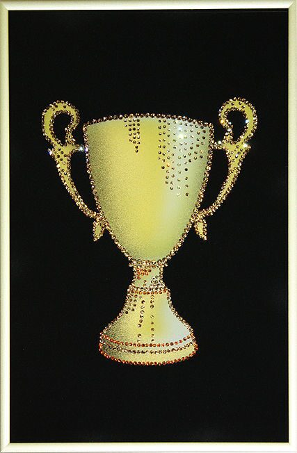 Картина с кристаллами Swarovski Кубок