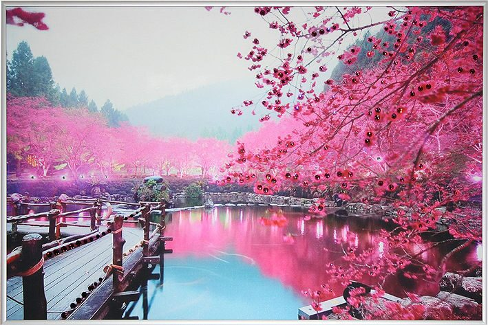 Картина с кристаллами Swarovski  Цветущая сакура 2