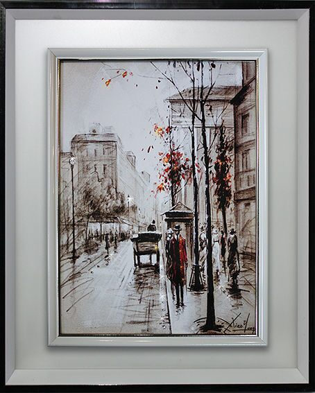 Картина Swarovski Прогулка по Лондону