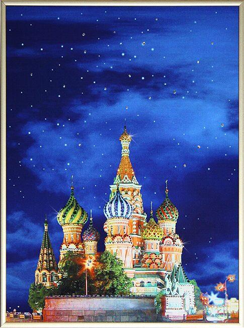Картина с кристаллами Swarovski Красная площадь 1