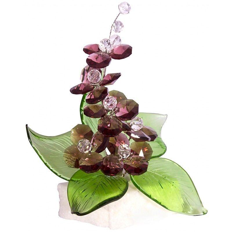Хрустальный композиция на мраморной подставке Виноградная лоза